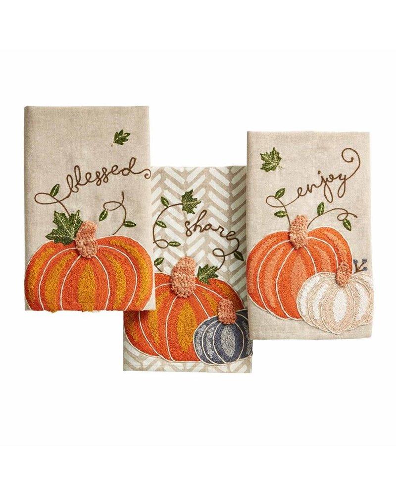Mudpie Mudpie Mudpie Thanksgiving Pumpkin Towels
