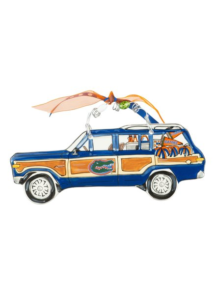 Glory Haus Florida Gators Wagon Christmas Ornament
