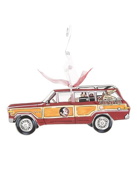 Glory Haus Florida State Seminoles Wagon Christmas Ornament
