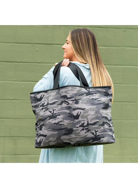 Wholesale Boutique Black Camo Ally Tote