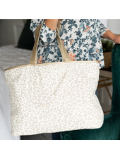 Wholesale Boutique Natural Leopard Ally Tote