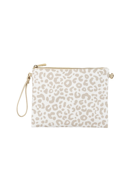 Wholesale Boutique Natural Leopard Crossbody/Wristlet
