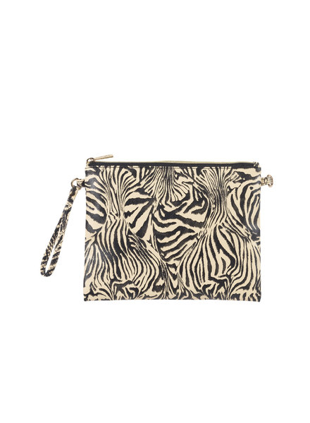 Wholesale Boutique Zebra Print Crossbody/Wristlet