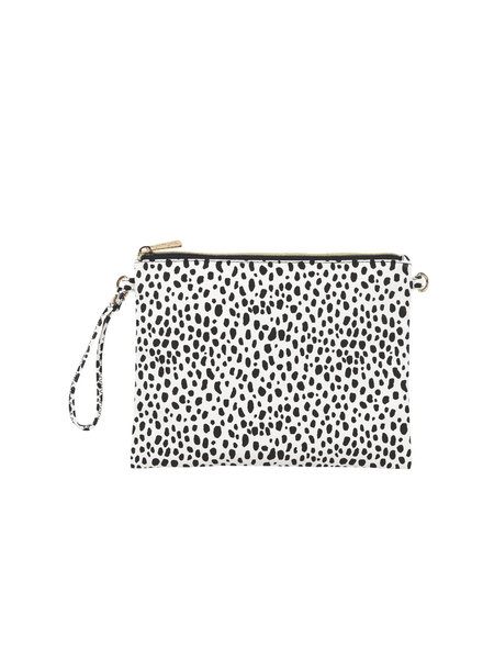 Wholesale Boutique Black & White Spot Crossbody/Wristlet