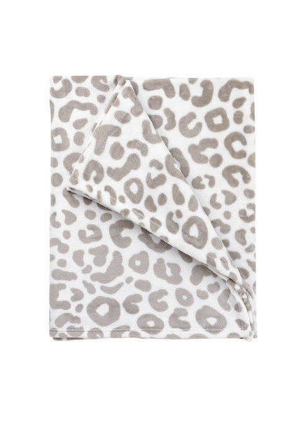 Wholesale Boutique Monogrammed Natural Leopard Throw Blanket