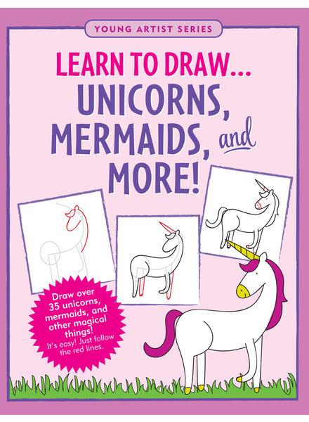 Peter Pauper Press Learn To Draw Unicorns & Mermaids