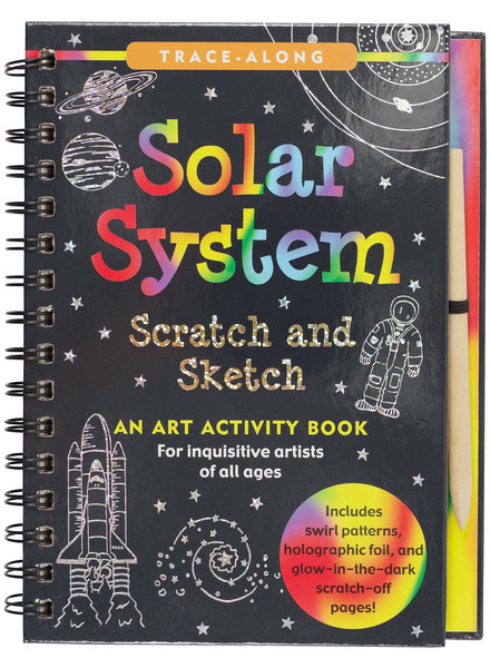 Peter Pauper Press Solar System Scratch & Sketch Activity Book