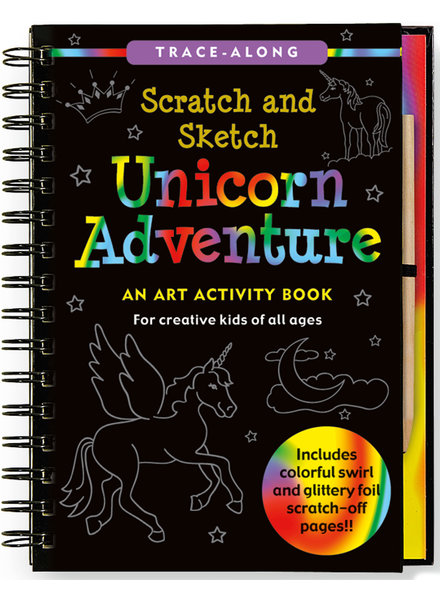 Peter Pauper Press Unicorn Scratch & Sketch Activity Book