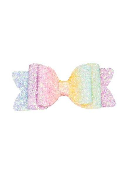 Alexander Sara Rainbow Glitter Bow Clip