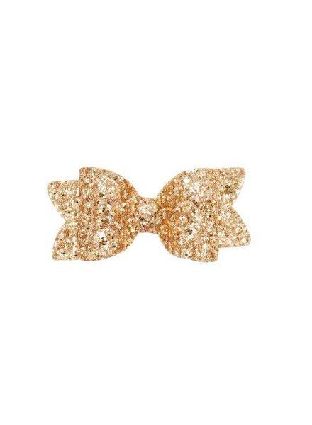 Alexander Sara Gold Glitter Bow Clip