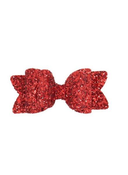 Alexander Sara Red Apple Glitter Bow Clip