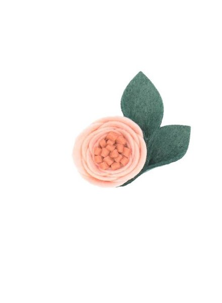 Alexander Sara Crystal Pink Felt Flower Hair Clip