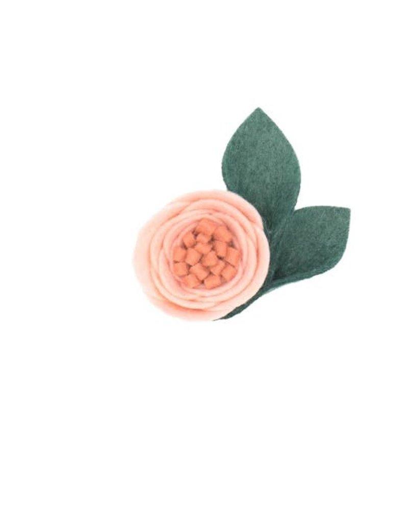 Alexander Sara Alexander Sara Felt Flower Clip - Peony Pink