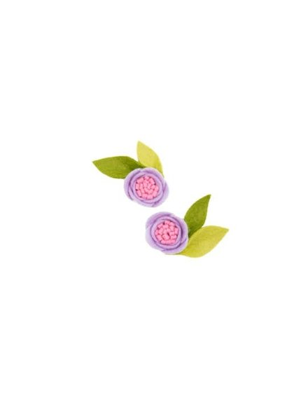 Alexander Sara Lilac Felt Flower Pigtail Set