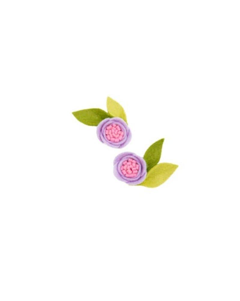Alexander Sara Alexander Sara Felt Flower Pigtail Set - Lilac