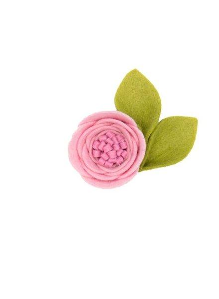 Alexander Sara Soft Pink Felt Flower Hair Clip
