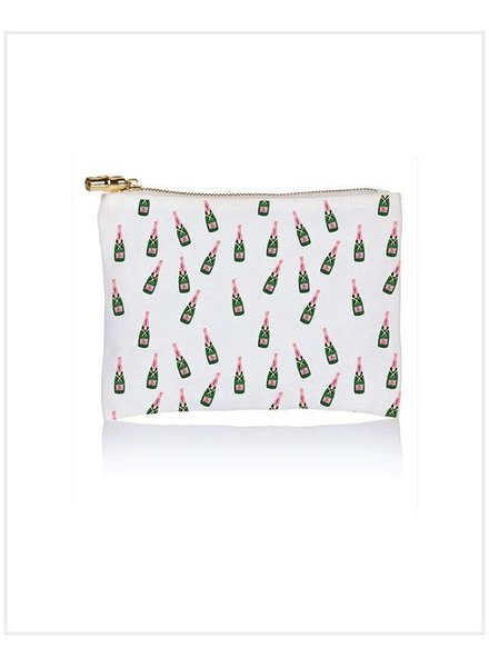 TOSS Champagne Bottle Print Flat Zip