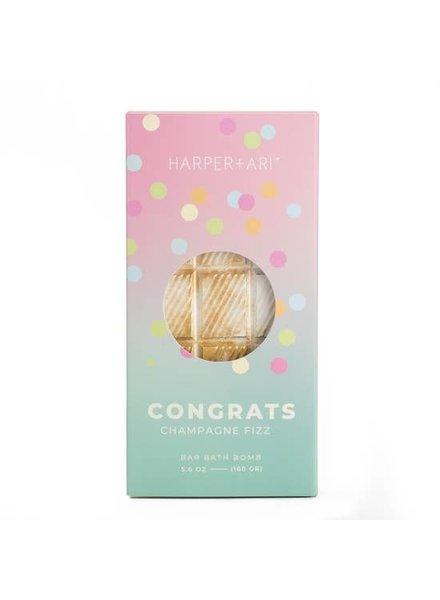 Harper + Ari Congrats Champagne Toast Bath Bar