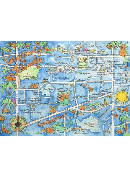 Go Coastal University of Florida Map Blanket