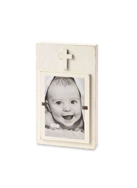 Mudpie White Cross Picture Frame