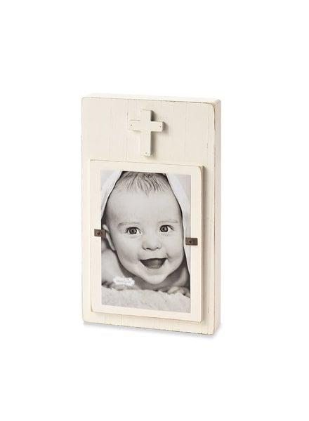 Mudpie White Cross Picture Frame