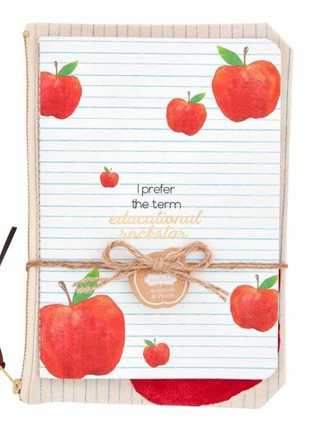 Mudpie Teacher Notebook & Pouch - 3 Sayings