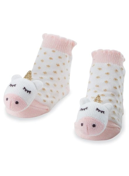 Mudpie Unicorn Rattle Toe Socks