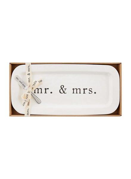 Mudpie Mr. & Mrs. Hostess Plate Set