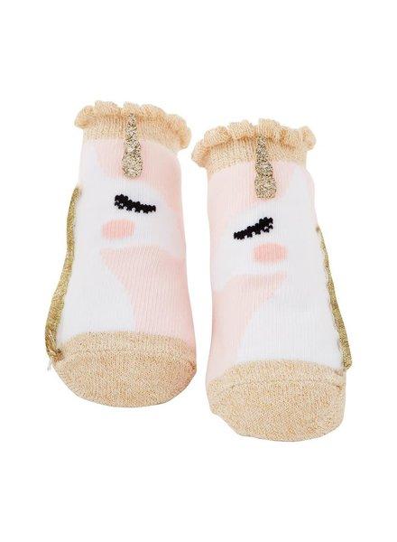 Mudpie Gold Unicorn Baby Socks