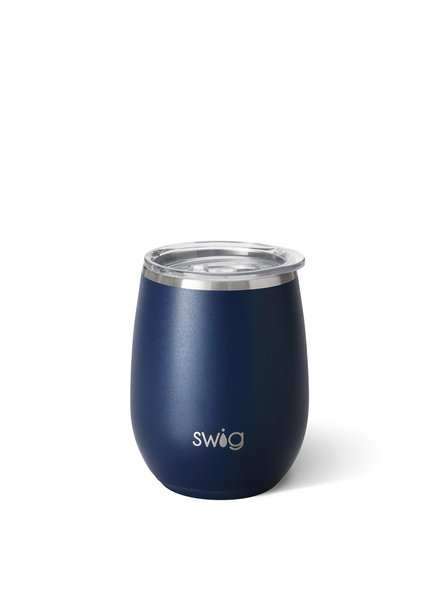 Swig Matte Navy Stemless Wine