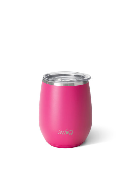 Swig Hot Pink Stemless Wine
