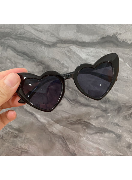 Initial Styles Kids Black Heart Sunglasses