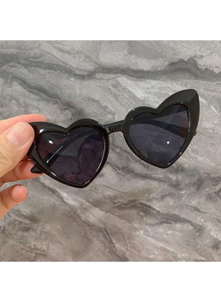Initial Styles Kids Black Heart Sunglasses