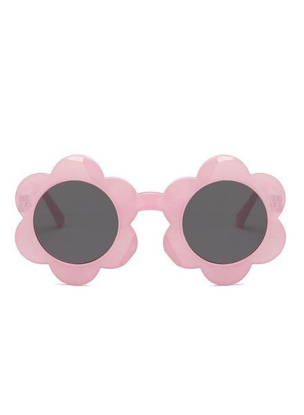 Initial Styles Kids Pink Flower Sunglasses