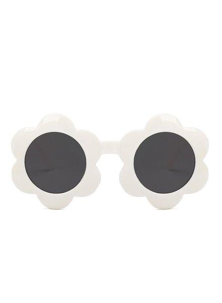 Initial Styles Kids White Flower Sunglasses
