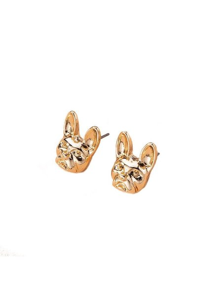 Initial Styles French Bulldog Earrings