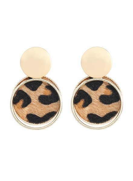 Initial Styles Leopard Print Earrings