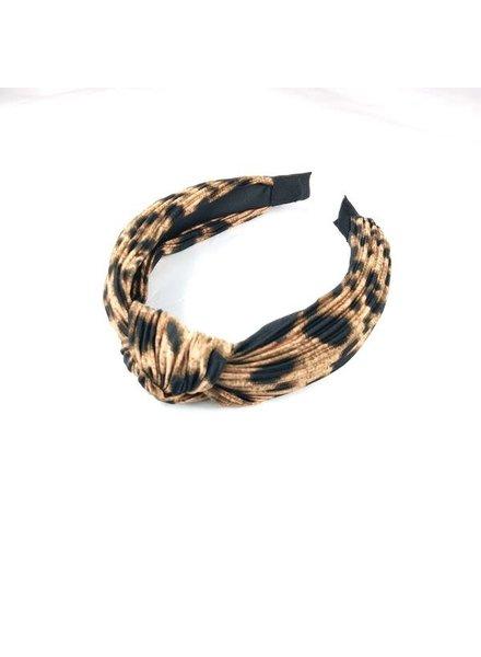 Initial Styles Ribbed Leopard Headband