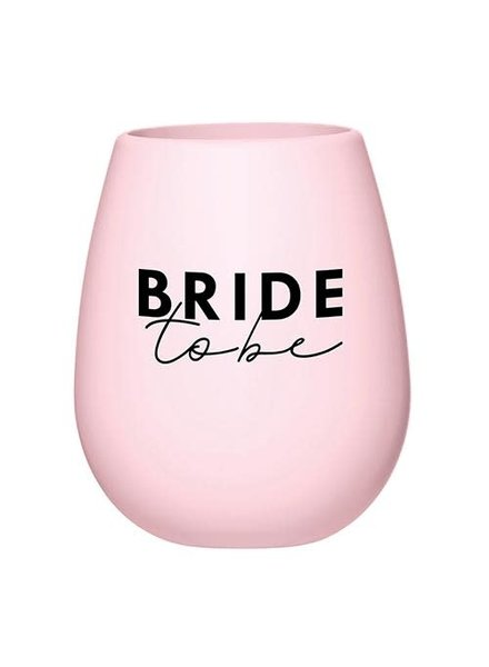 Santa Barbara Silicone Wine Glass - Bride to Be