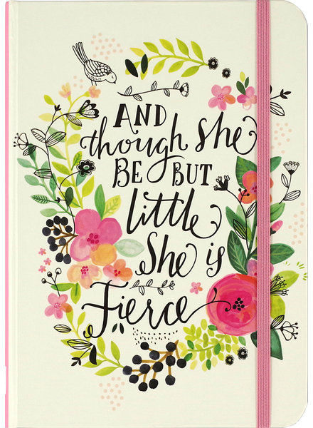 Peter Pauper Press And Though She Be But Little She Is Fierce Notebook