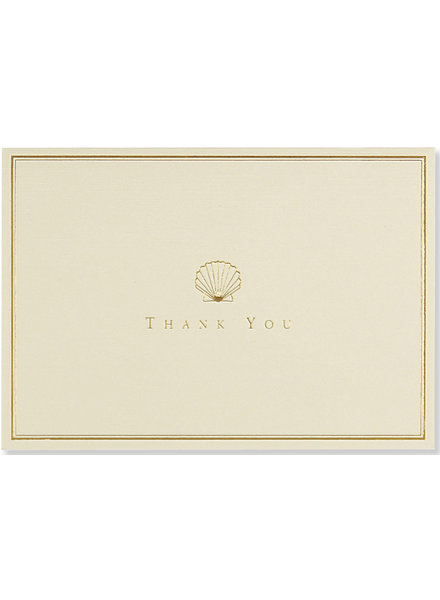 Peter Pauper Press Shell Thank You Note Cards