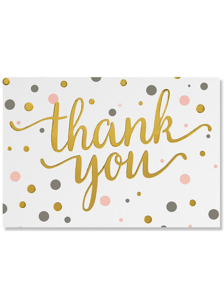 Peter Pauper Press Gold & Pink Thank You Cards