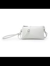 Jen & Co. Herringbone White Crossbody + Wristlet