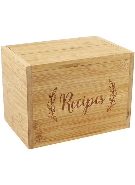 Peter Pauper Press Peter Pauper Bamboo Recipe Box Set