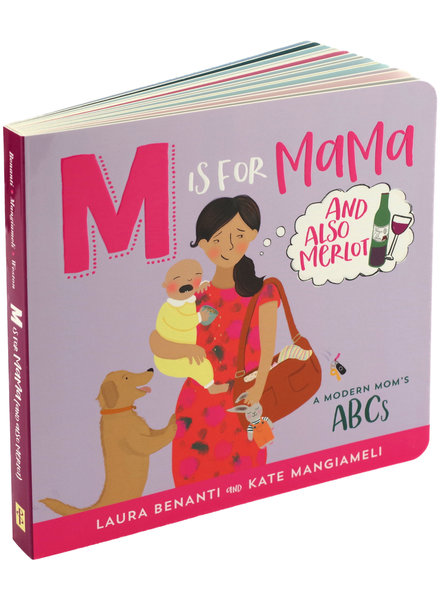 Peter Pauper Press M Is For Mama & Also Merlot Book