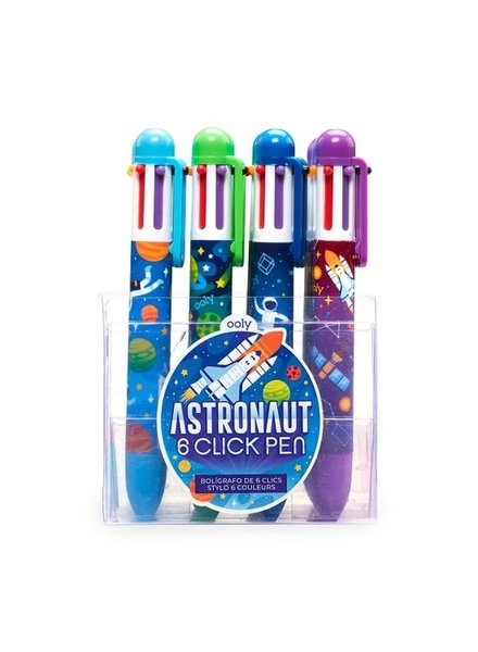 Ooly 6 Color Click Astronaut Pens