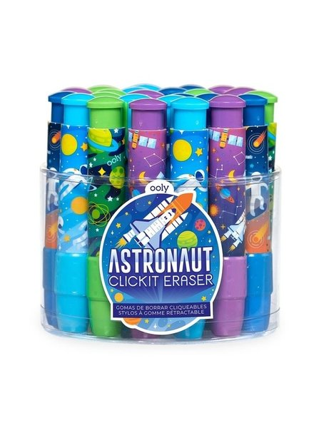 Ooly Astronaut Click It Eraser for Kids