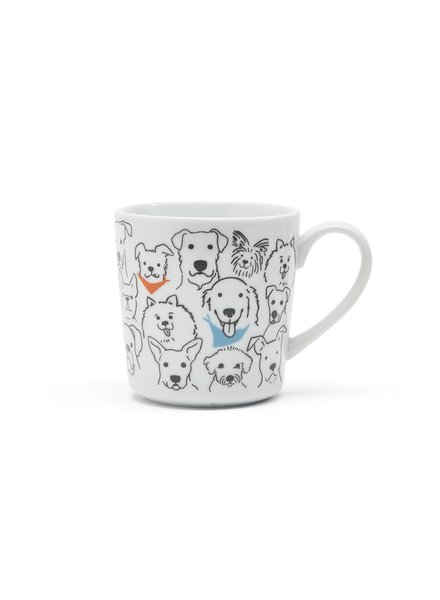 Two's Company The Dog Loves Me Best Coffee Mug
