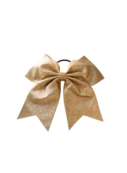 Initial Styles Kids Gold Glitter Hair Bow