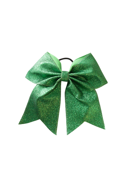 Initial Styles Kids Green Glitter Hair Bow